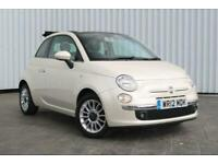 2012 Fiat 500 1.2 LOUNGE CABRIOLET 3DR Convertible Petrol Manual