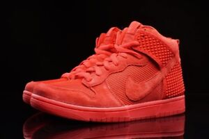 DS NIKE DUNK HIGH RED OCTOBER YEEZY SIZE 9.5