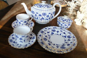Spode COLONEL BLUE (GOLD TRIM) Tea service for two