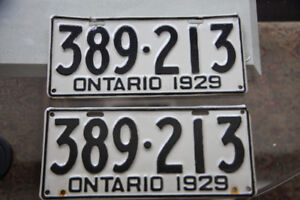 Old Ontario Licence Plates-1929