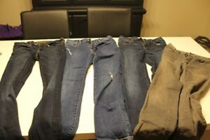 4 pair of boys size 16 skinny fit jeans