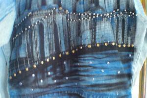 Veste de jeans NEWYORK peint à la main UNIQUE/Faites votre offre Saguenay Saguenay-Lac-Saint-Jean image 6