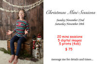 Christmas Mini Sessions Still available this weekend!