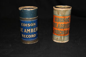 Edison record cylinders