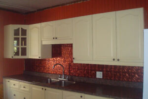 Used Kitchen cupboards with countertop