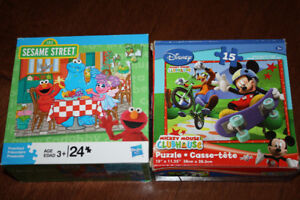 2 Sesame Street & Mickey Mouse Puzzles