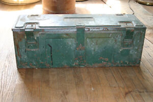 WW2 Ammo Metal Box-1943 with wooden liner and shelf