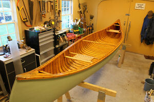 16' CEDAR AND FIBERGLASS NEW BRUNSWICK CANOE