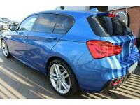 2016 BLUE BMW 118D 2.0 M SPORT DIESEL MANUAL 5DR HATCH CAR FINANCE FR £201 PCM
