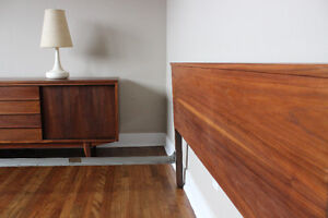Refinished Mid-Century Modern / Vintage Double Bed