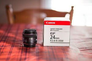 Canon EF 24mm F2.8 IS USM Lens - Great Condition!