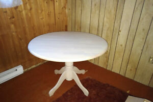 Bleached maple wood table
