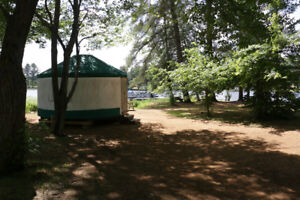 Waterfront Yurt available this weekend