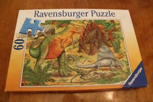 Casse-tête Ravensburger, Les dinosaures, 60 mcx