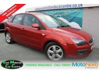 2007 07 FORD FOCUS 1.6 ZETEC 5D 100 BHP PETROL RED