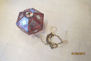 Vintage stain glass light
