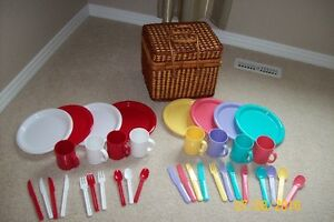 Picnik Basket and dishes sets for sale!