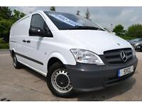 2012 Mercedes benz Vito 110CDI LONG LWB Van 6 door Pick Up
