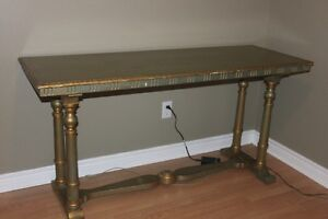 Antique Library Table ( Sofa Table ) from Maine