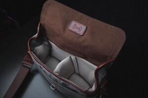 ONA Bag Bowery model in Smoke Grey