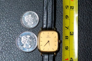 Small Lady's 18K Solid Gold Omega Quartz Watch