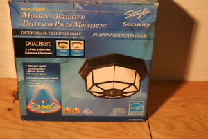 2 Motion activated security lights; each half price at $30