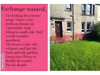 House swap Glasgow.