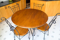 Wrought Iron Bistro Table & Chairs