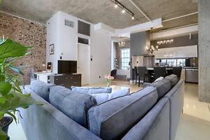 *** Luxurieux condo loft style New-Yorkais à louer centre ville