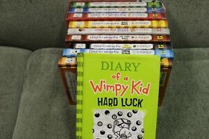 DIARY OF A WIMPY KID   10 HARD COVER BOOKS