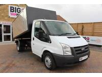 2009 FORD TRANSIT 350 TDCI 100 MWB SINGLE CAB ARBORIST ALLOY TIPPER DRW TIPPER D