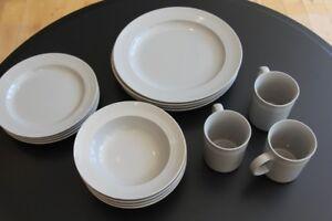 """Brand New """"Gluckstein Home"""" Porcelain Dinnerware  4 settings"""