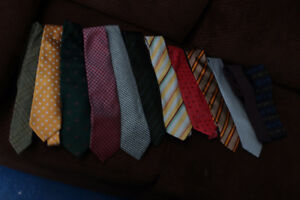 12 Ties / Cravates - Designer Luxury Mens Ties Made in Italy