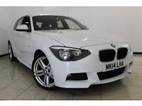 2014 14 BMW 1 SERIES 2.0 118D M SPORT 5DR 141 BHP DIESEL