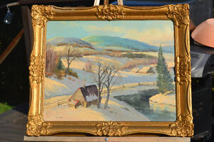 VINTAGE Sydney Berne(1921- 2013) OIL ON BOARD PAINTING EXCELLENT