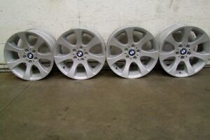"4-18"" FACTORY BMW 3 SERIES ALLOY RIMS, CENTRES INCLUDED"