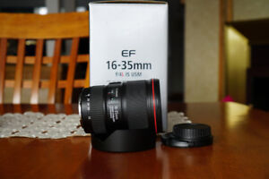 Canon EF 16-35 F 4 IS like new condition