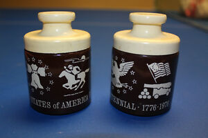 American Bicentennial Commemorative Set of 2 Jars - Reduced