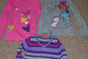 GIRL'S SIZE 10/12/L LONG SLEEVE SHIRTS