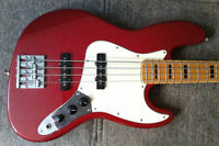 Candy Apple Red Fender Jazz Bass (Customized) Negociable!