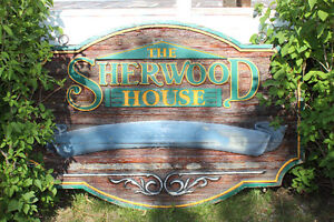 Original Sherwood House sign Canmore