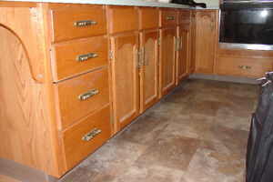 Oak cabinets for your garage for free,