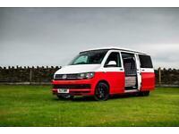 VW T6 Campervan 2017 Red & White Retro Gti Tarten seats 27k miles Starry Night