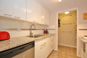 Updated kitchen with granite counters,