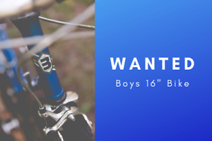 """Boys 16"""" Bike in great condition"""