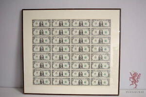 The Honest Pawnbroker - Uncut Sheet Of 32 - $1 US Bills 1985