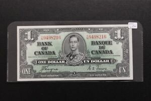 Uncirculated Canada 1937 $1 Bank Note