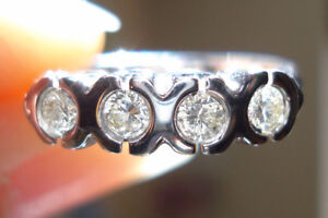 Beautiful! 18k White Gold .50 Carat Diamond Ring
