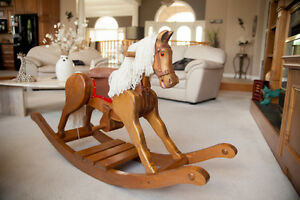 Wooden Rocking Horse (Handcrafted)