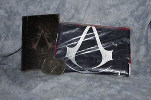 Assassin's Creed III 3 Limited edition, Flag, belt buckle & book